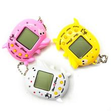 Cute Dolphin LCD Virtual Digital Pet Electronic Random > 3 years old Game Machine With Bead Chain