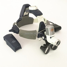 3.5X420mm Medical Loupes Binocular Magnifier Dental Surgical Loupes+ 5W LED Headlight Headlamp 2 Battery