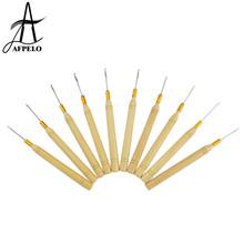 Wholesale 10pcs Hair Extension Crochet Hook Needles for Weaving Linking Micro Rings Human Hair Extension Tools