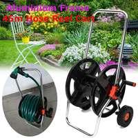 Home Garden Hose Reel Holder Rack Pipe Storage Cart Gardening Water Planting Cart Aluminum Frame Irrigation Supplies 2019 New