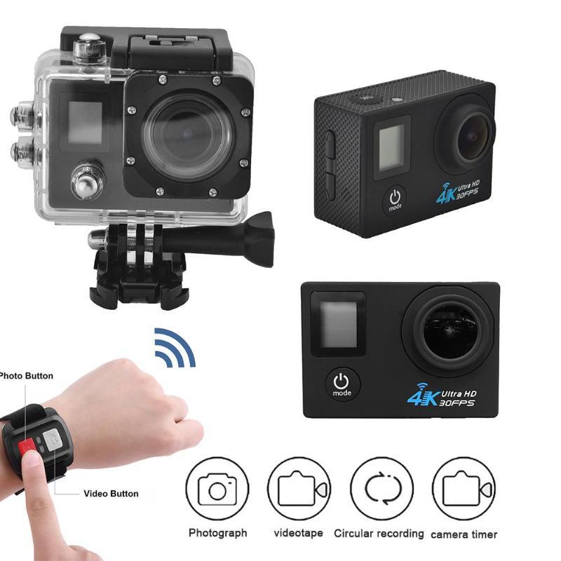 G53DR Double Écran Sport caméra d'action Ultra 30fps 1080 p 4 K Caméra À Distance Wifi 40 m Étanche Action Cam LCD mini caméra de sport