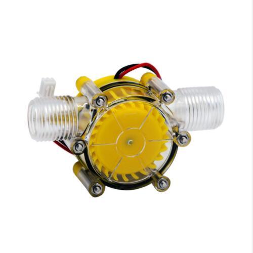 Желтый полупрозрачный 12 В/10 Вт DC водяной насос Генератор гидроэлектрический микро гидро-генератор расход водопроводной воды гидравлически...