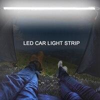 12V LED Car Light Strip Portable 120cm White Amber Color Lighting Car LED Strip Light Motorbike Tent Lamp LED Trunk Strip Light