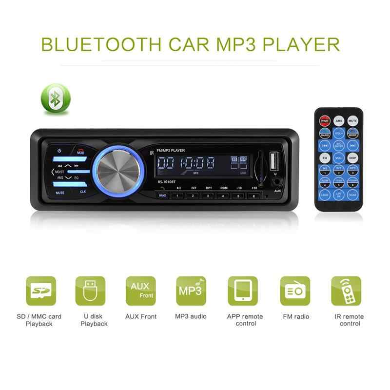 In Dash MP3 Radio Player Bluetooth Car Stereo Audio Support