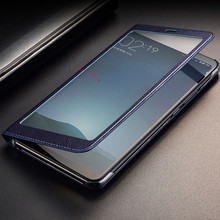 Dành cho Xiaomi Mi Max 2 Ốp Lưng Max 3 Bao Phủ Toàn Cửa Sổ View PU Da Flip Cover Funda dành cho Xiaomi mi Max Ốp lưng bảo vệ Túi