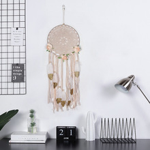 OHEART Natural Dream Catcher Flower Feather Indian Dreamcatcher Hanging Accessories Nice Literary Gift