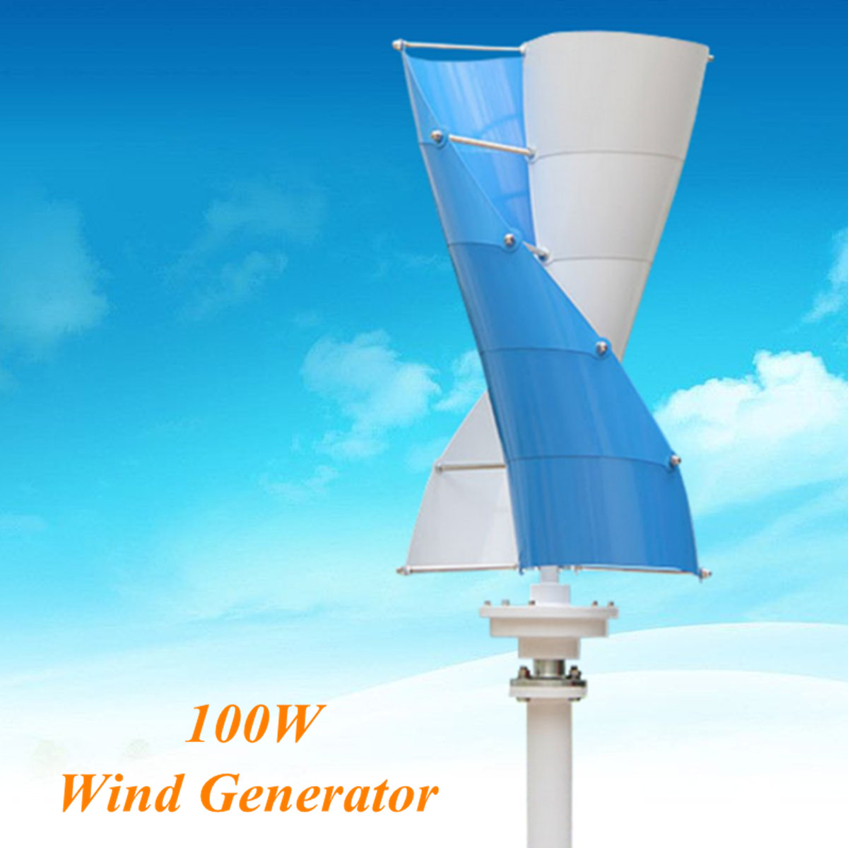 Kit Vertical de contrôleur de Charge de générateur d'énergie éolienne en spirale DC 12 V 100 W Mini équipement d'énergie électrique de moulin à vent
