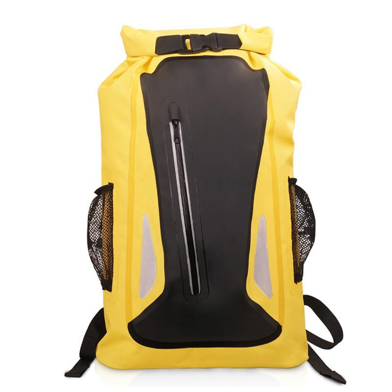 Outdoor Waterproof Backpack Pvc Safety Reflective Strip Drifting Dry Sack Bag Strengthening Waist And Sinews Sports & Entertainment