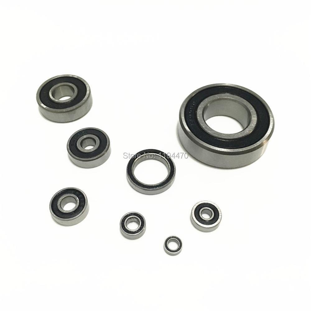 Black Rubber Sealed Ball Bearing Bearings 6803RS 17x26x5 mm 5pcs 6803-2RS