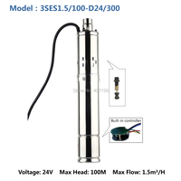 24 volt dc China solar water submerged pump for deep well pomp solare 3SES1.5/100 D24/300