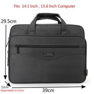 Image 2 - Męska walizka biznesowa torba na laptopa wodoodporna tkanina Oxford mężczyźni komputery torebki portfele biznesowe męskie torby podróżne na ramię