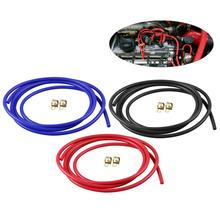 1m Car Silicone Vacuum Hose Line Turbine Cooler With High-performance Auto Accessories Black Blue Red 3 Colors