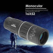 16x52 Двойной фокус Монокуляр Зрительные телескопа зум оптический бинокли с линзами линзы для покрытия охотничий оптический прицел область HD монокуляр