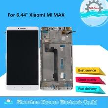 """6.44 """"M & Sen Xiaomi Mi MAX için çerçeve ile LCD ekran + dokunmatik Panel Digitizer için Xiaomi MIMAX Mi Max ekran çerçevesi"""