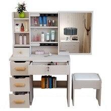 Box Cabinet Mesa Coiffeuse Avec Miroir Makeup Tocador De Maquillaje Vanity Wood Quarto Bedroom Furniture Table Penteadeira