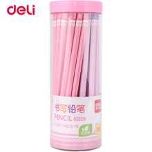 Deli 50 Pcs/Set Standard Pencil 2018 New Set Of Pencils 2B Office & School Supplies Cute Simple Design Pencils For Drawing 40DS9