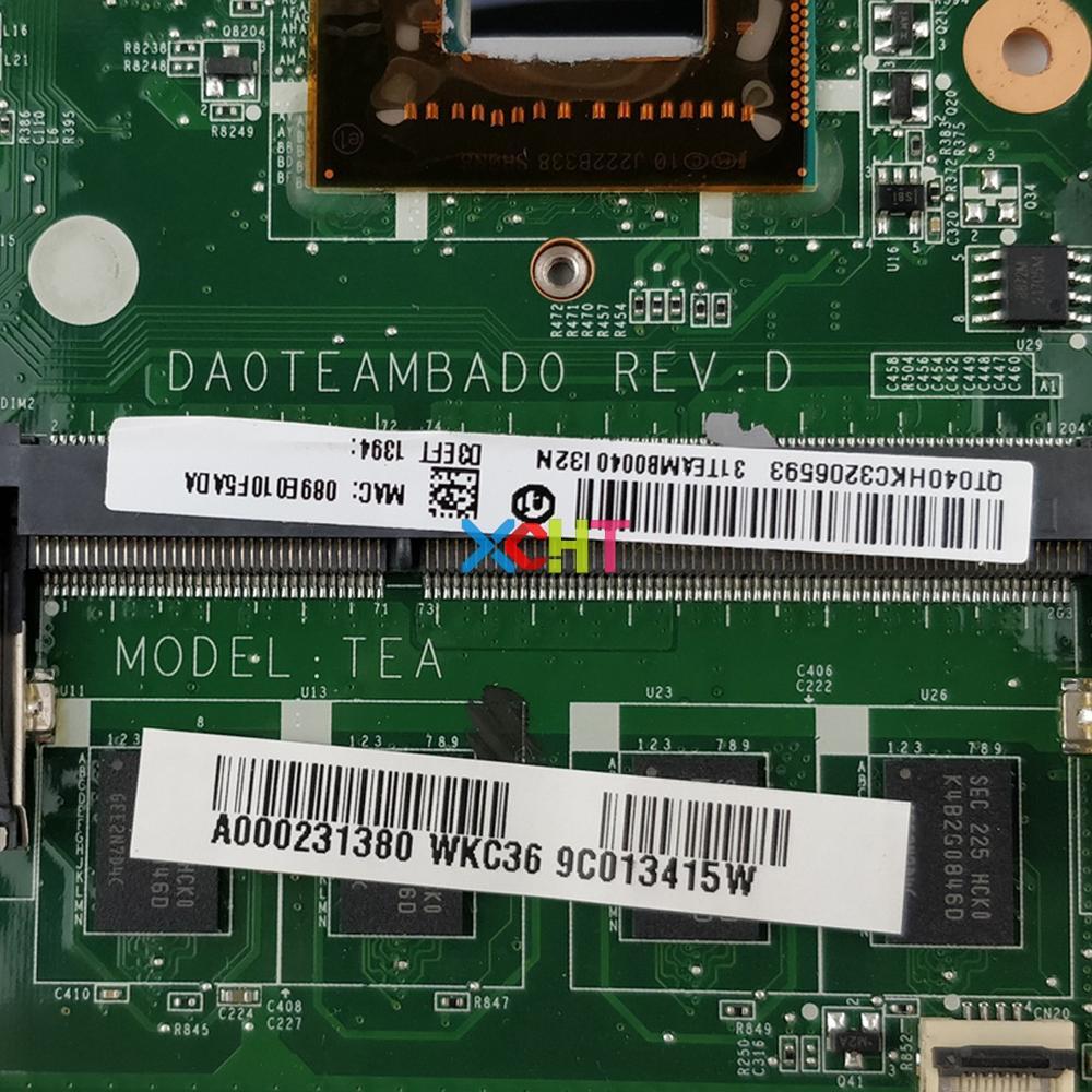 Image 5 - A000231380 DA0TEAMBAD0 w I5 3317U Процессор для Toshiba Satellite U845W U840W ноутбука Материнская плата ноутбука плата-in Материнская плата для ноутбука from Компьютер и офис