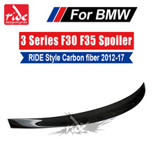 For BMW F30 F35 RIDE Style Carbon Fiber Rear Trunk Spoiler Wing Lip Car Styling 3-Series 320i 320d 325i 328i 330i 335i 2012-2017 стоимость