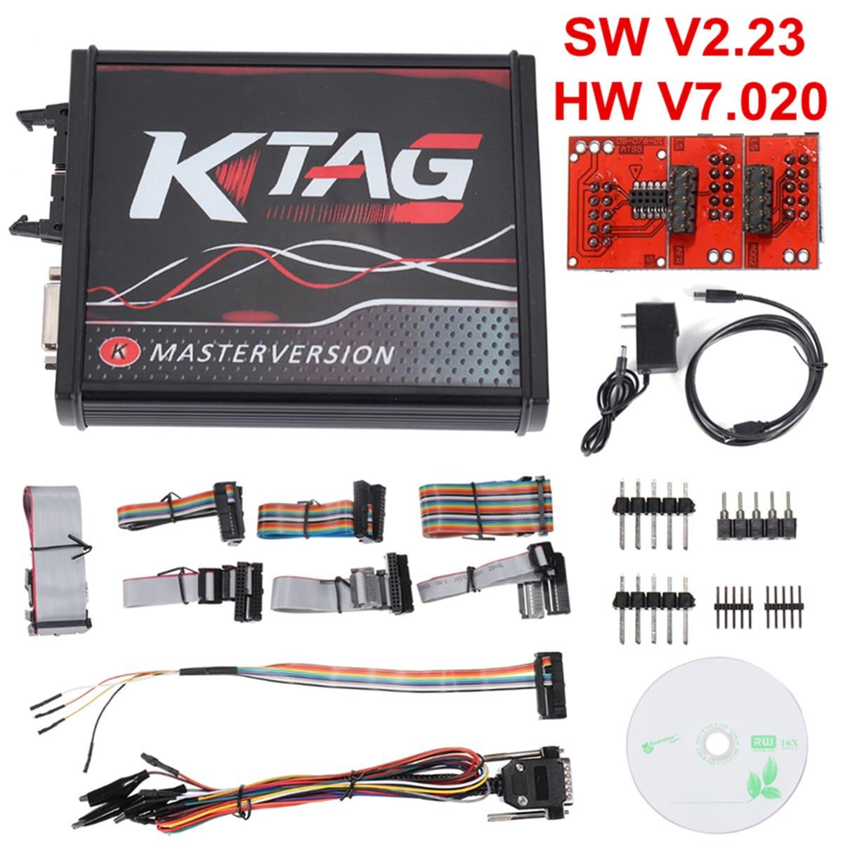 Pour V2.23 KTAG ECU programmeur câble outil V7.020 PCB Version en ligne jeton illimité Auto voiture véhicules réparation outils Kit de diagnostic