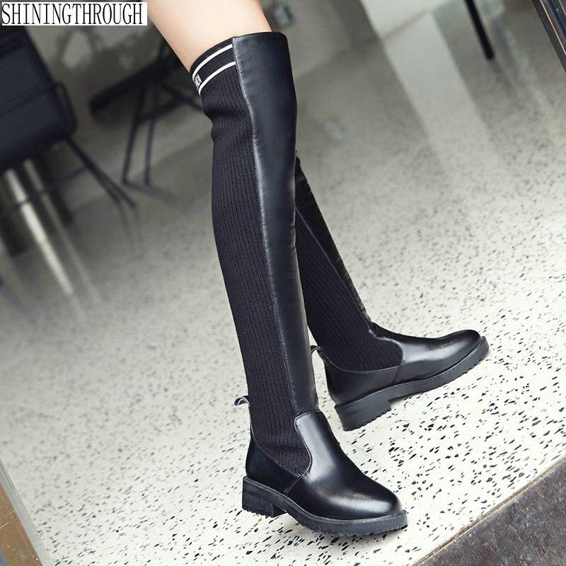Femme Haute 43 Bottes Nouveau Mariage Robe Genou Grande De Chaussures Noir Bas Femmes Dames Sur Taille Cm Le Soirée Casual 3 Western Talons wr1p0qwv
