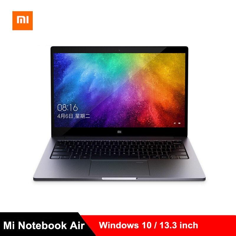 Xiao mi mi Notebook Ar 13.3 polegada Laptops Intel Core i5-8250U Win10/i7-8550U Quad Core 2.5 GHz 8 GB 256 GB MX150 Impressão Digital para PC
