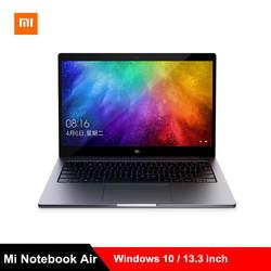 Xiaomi Mi Тетрадь Air 13,3 ''Win10 Intel Core I5-8250U/I7-8550U Dual Core 2,5 GHz 8 GB Оперативная память 256 GB SSD отпечатков пальцев ноутбуки