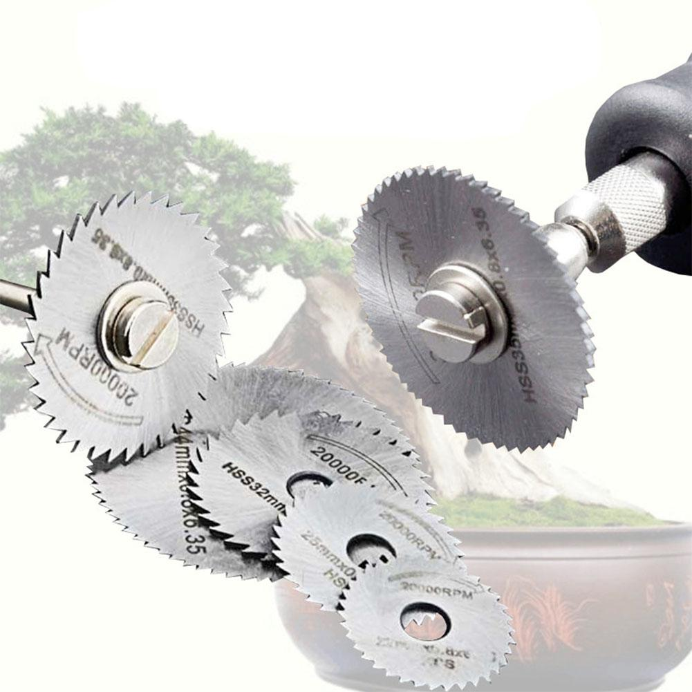 LumiParty 6Pcs/Set Multitool Blades HSS Circular Saw Blade Set Metal Cutting Discs Electric Drill Accessory Woodworking Tool