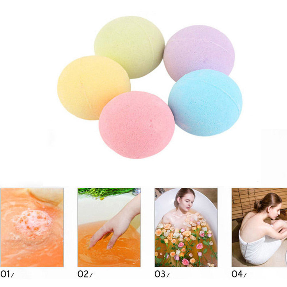 3pc/Set Bath Salt Ball Body Skin Whitening Relax Stress Relief Natural Bubble Shower Bombs Ball Skin Care Tools