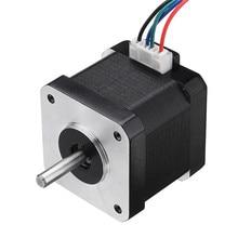 42BYGH40 1704B Nema17 Motor paso a paso 1,8 grados 42mm eje Dual 1.7A Motor para máquina de grabado CNC de alta calidad