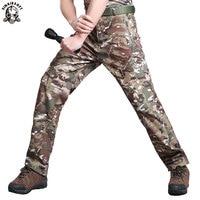 Тактический Акула кожи мягкой в виде ракушки Охота армии Военная Униформа карго армейские брюки для девочек для мужчин водонепроница