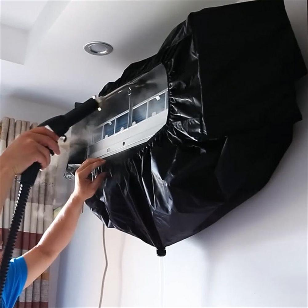 1Pc Air Conditioner Cleaning Dust Washing Cover Clean Waterproof PVC Protector Tool Bag 350cm For 1.5P 2P 3P