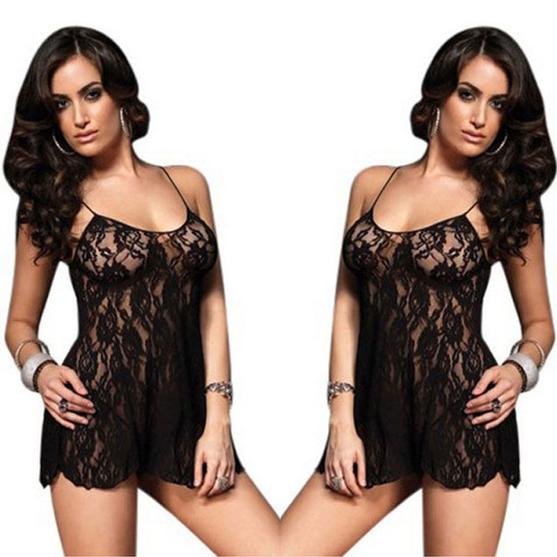 Original hirigin Sexy Women's Intimate Lingerie Lace Dress Babydoll Sleepwear G-string Plus Size
