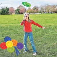 6pcs Rotating Plate with 12pcs Sticks Juggling Props Performance Tools Balance Skill Toys for Children Kids Home Outdoor Fun