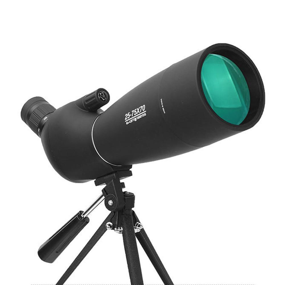 Télescope monoculaire Zoom 25-75x70 haute définition faible luminosité faible luminosité Vision nocturne cible miroir astronomique extérieur