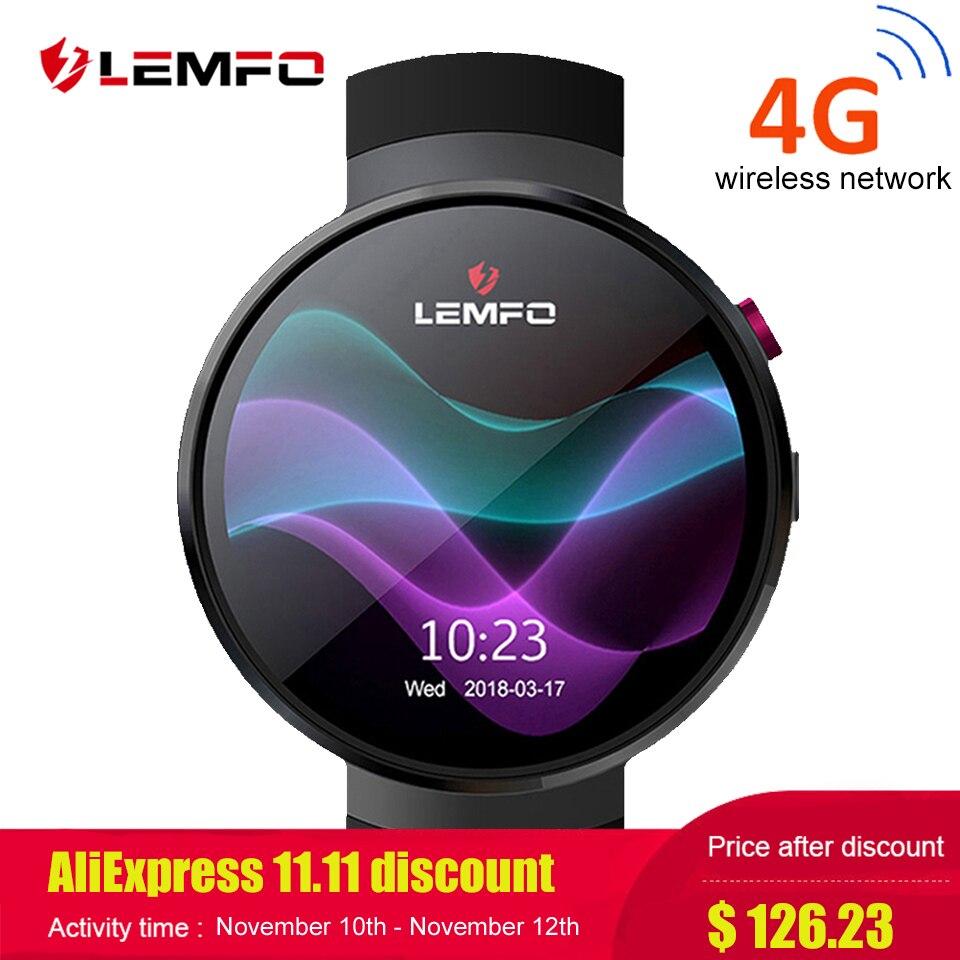 LEMFO LEM7 Smart Uhr Android 7.0 LTE 4g Sim 2MP Kamera GPS WIFI Herz Rate 1 gb + 16 gb speicher mit Kamera Smartwatch für Männer