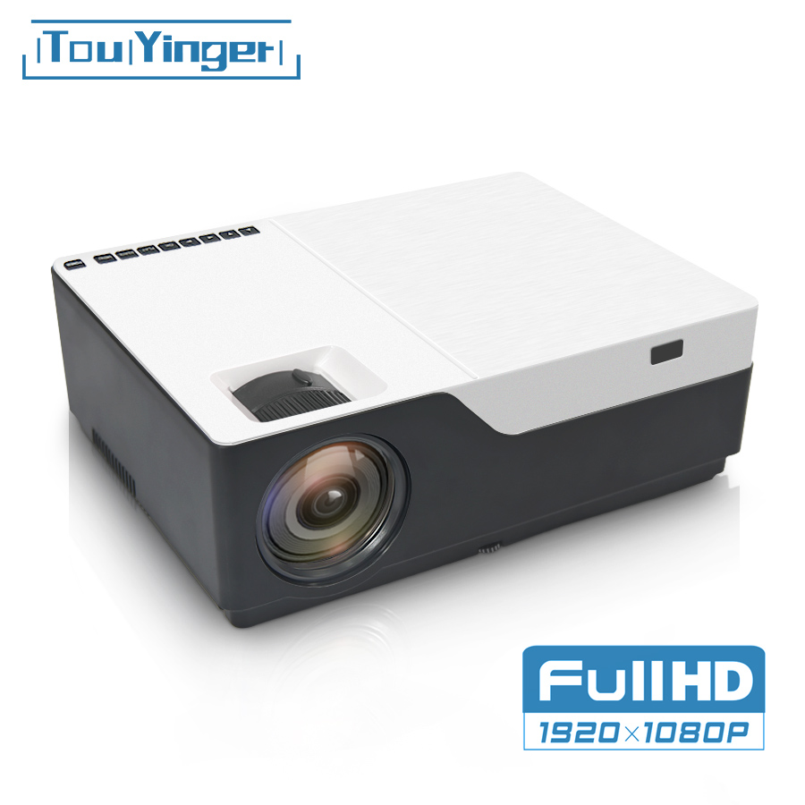 US $177 54 34% OFF|TouYinger M18 Projector 1080p resolution 5500Lumen ,  Android AC3 option , LED video Projector Home Theater Full HD Movie  Beamer-in