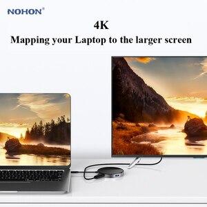 Image 5 - Nohon USB ประเภท C HUB PD Wireless Charger 80 W 7 in 1 HDMI Thunderbolt 3 อะแดปเตอร์สำหรับ MacBook Samsung s9 Huawei P20 Mate 20 USB HUB