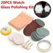 20 шт./компл. стекло для часов полировальный набор стекло удаление царапин полировальная Подушка и колесо 50 мм подложка прочное качество