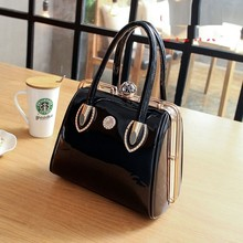 Luxury Fashion Women Messenger Bag Casual Tote Frame Patent Leather