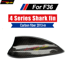 F36 Car Roof Antenna Carbon Fiber A-Style For 4 Series 420i 428i 435i 440 Aerials Stickers Cover Shark Fin Car-Styling 2013+