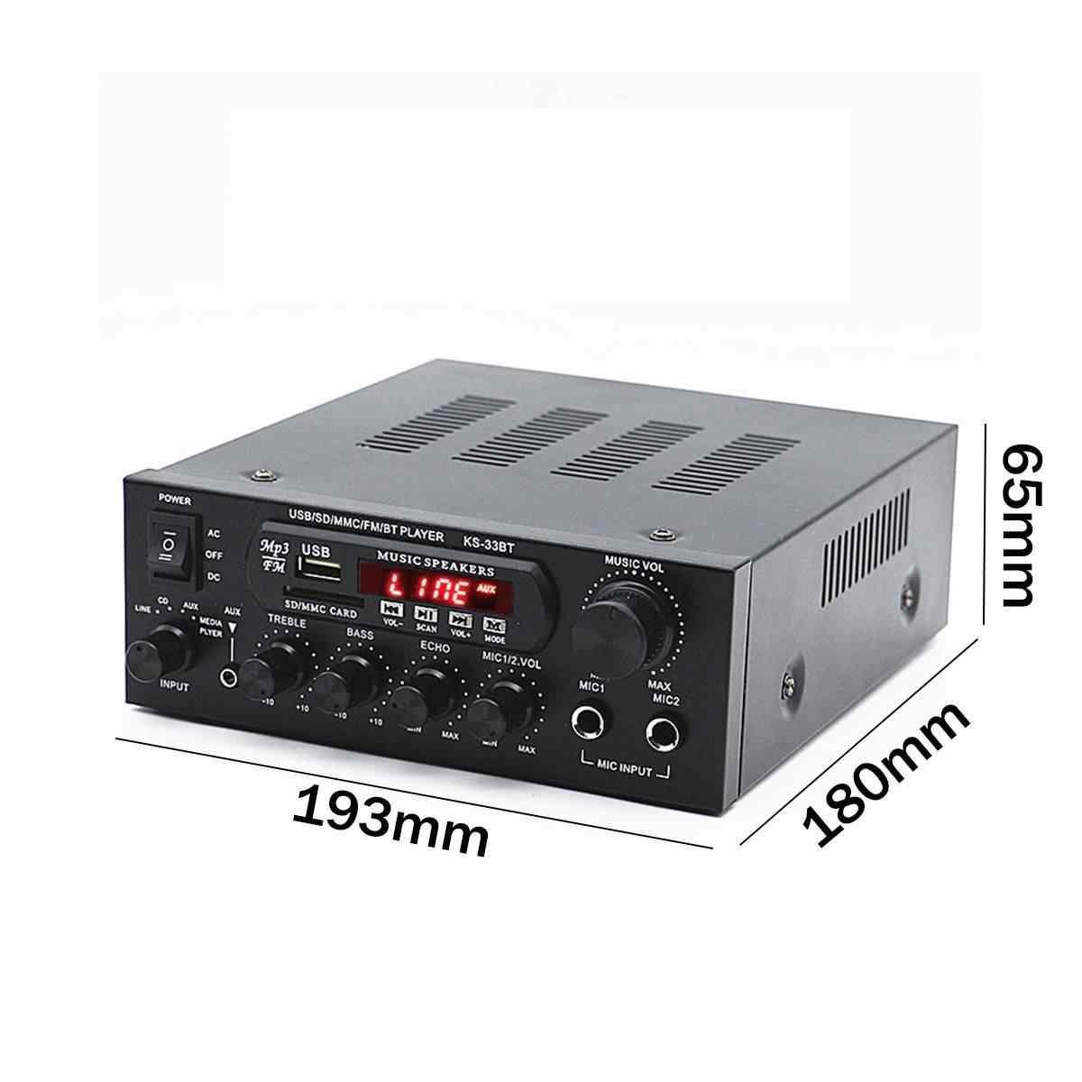 1000 Вт 220 В 110 В аудио усилитель мощности домашний кинотеатр усилители аудио с пультом дистанционного управления Поддержка FM USB SD карта bluetooth