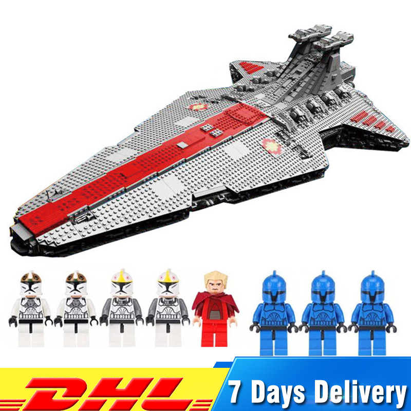 Lepin 05077 6125PCS Star Wars The Ucs ST04 Set Republic Cruiser Model Building Blocks Bricks Educational Toys for Children Gifts