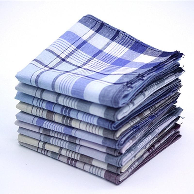 5Pcs Multicolor Plaid Stripe Men Pocket Squares Business Chest Towel Pocket Hanky Handkerchiefs Hankies Scarves 100% Cotton 18