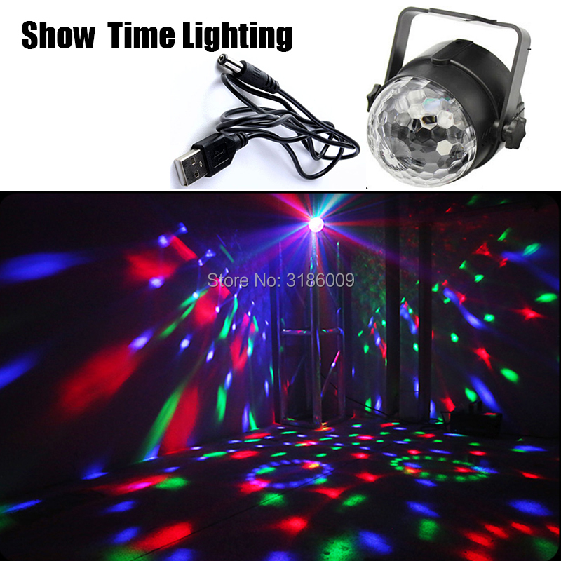 Show Time Led Disco Light Stage Lights DJ Disco Ball Sound Activated Laser Projector Effect Lamp Light Music Christmas Party