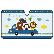 Car Windshield Sunshade Insulation Cartoon UV Prevention Children Aluminum Foil Portable Curtain Auto Accessories