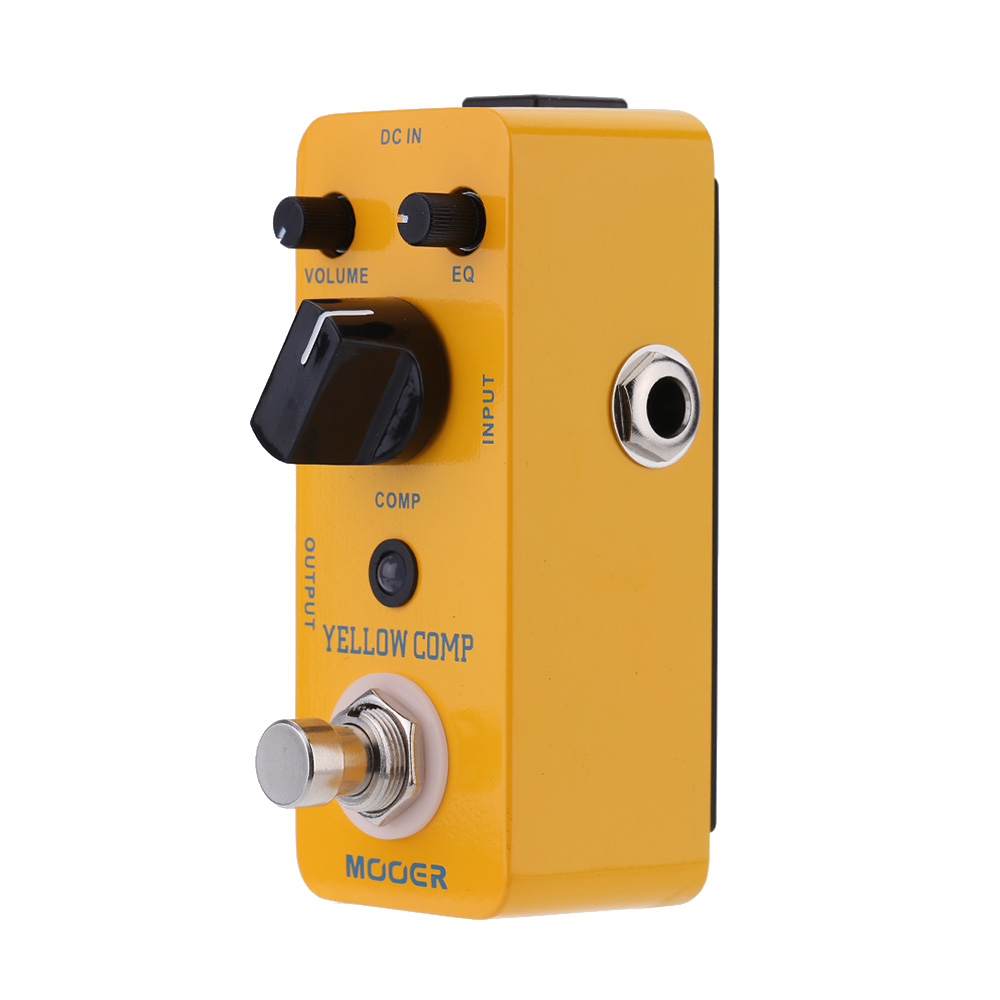 Mooer Yellow Comp Micro Guitar Effect Pedal Optical Compressor Guitar Pedal for Electric Guitar True Bypass