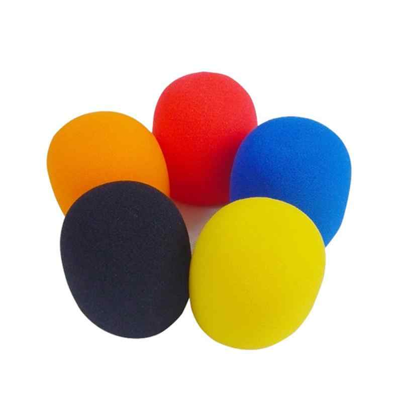 5 PCS/bag different colors Handheld Stage Microphone Windscreen Ball shape Foam Cover Thick Durable Material Pieces cover