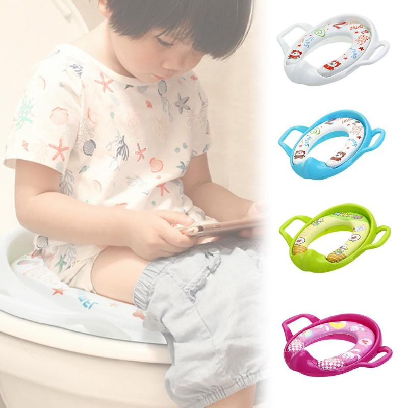Baby Toilet Seat Plastic Potty Training Seat Cover Chamber Pots Ring For Grils Boy Foldaway Toilet Adapter Children Potty