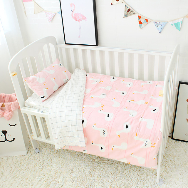 3 Stücke Baby Bettwäsche Set Für Mädchen Reine Baumwolle Baby