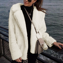 Abrigo de piel sintética de talla grande para mujer otoño invierno abrigo  de peluche 2019 nueva chaqueta de piel de moda abrigo . a56d927549ea